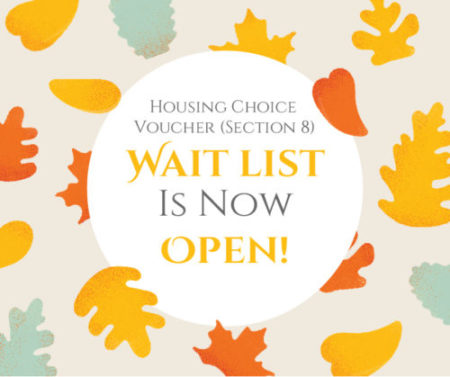 Now Open Housing Choice Voucher Section 8 Wait List